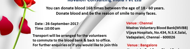 Sep 2017 – Blood Donation Drive